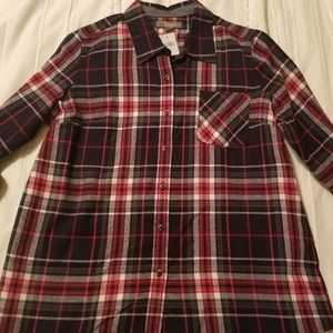 Large long sleeve flannel